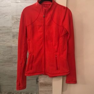 LULULEMON coral/red zip up